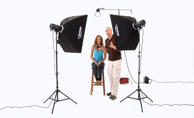 摄影工作室人像布光视频教程
