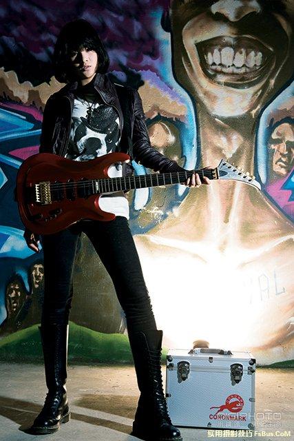 外拍实战挑战摇滚人像创作