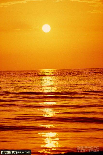 教你四招拍好日落的构图技巧