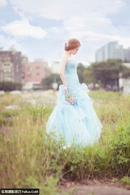 简单几招轻松拍出日韩风婚纱