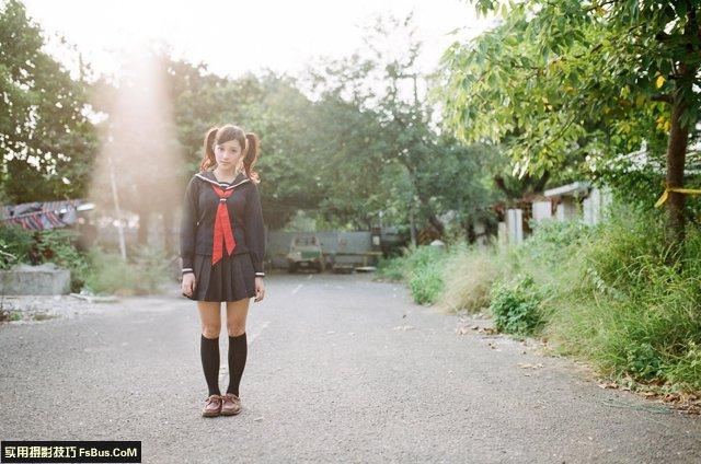美少女逆光人像写真的各种拍法