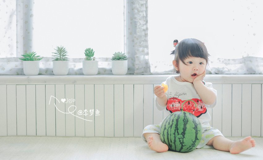 一颗西瓜能拍出怎样的儿童写真