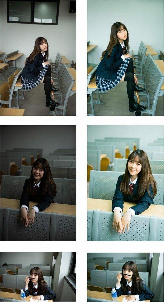 校园风教室JK写真拍摄与后期思路